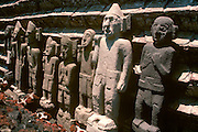 MEXICO, MEXICO CITY, AZTEC Great Temple (Templo Mayor) in Zócalo