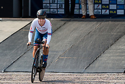SIMMONDS Hayley from GREAT BRITAIN during Women Elite Time Trial at 2019 UEC European Road Championships, Alkmaar, The Netherlands, 8 August 2019. <br /> <br /> Photo by Pim Nijland / PelotonPhotos.com <br /> <br /> All photos usage must carry mandatory copyright credit (Peloton Photos | Pim Nijland)