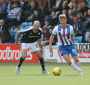 Killie's Mark O'Hara and Dundee's Gary Harkins - Kilmarnock v Dundee - Ladbrokes Scottish Premiership at Rugby Park<br /> <br />  - &copy; David Young - www.davidyoungphoto.co.uk - email: davidyoungphoto@gmail.com