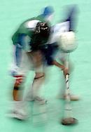 """n/z.: Hokej halowy Azerbejdzan - Jemen - Olimpiady Specjalne Igrzyska Zimowe podczas zawodow w hali """" White Ring """" w Nagano. Japonia , Nagano , 27-02-2005 , fot.: Adam Nurkiewicz / mediasport..Azerbeijan v Yemen Special Olympics Winter Games during floor hockey competition at """" White Ring """" in Nagano. February 27, 2005 , Japan , Nagano ( Photo by Adam Nurkiewicz / mediasport )"""