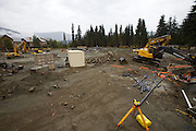 Construction works at the sites of the Olympic Games 2010: Whistler Medals Plaza being bulldozed.