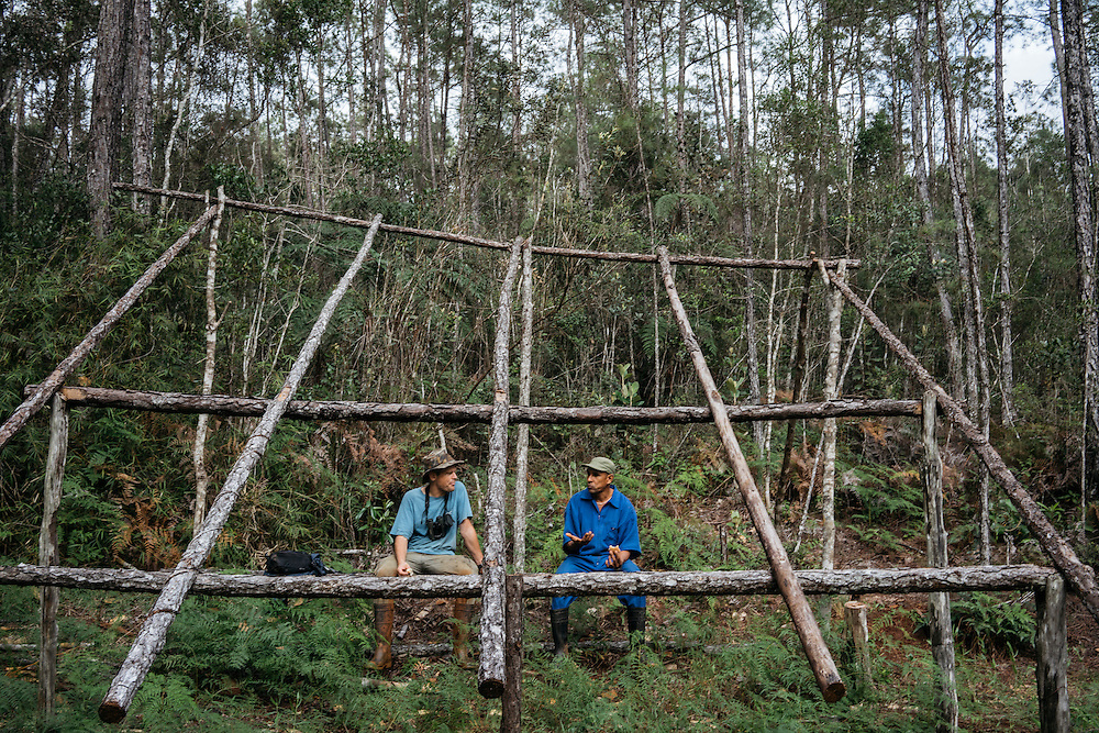 Jabao Zahares, and Martjan Lammertink arrive at Ojito de Agua campsite in Humbolt National Park in Eastern Cuba on Jan. 30, 2016.