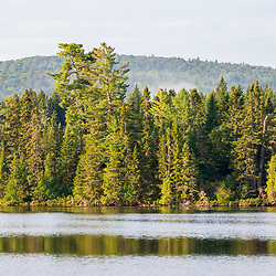Island Pond in Aroostook County, Maine. Deboullie Public Reserve Land.