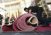 Feb. 24, 2016 - Los Angeles, California, U.S - <br /> <br /> Workers roll out the red carpet for the Oscars in front of the Dolby Theatre in Los Angeles, Wednesday, February 24, 2016. The 88th Academy Awards will be held Sunday, February 28, 2016. <br /> ©Exclusivepix Media