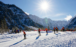 Trial runners during 1.2 km Sprint Classic race at FIS Cross Country World Cup Planica 2016, on January 20, 2018 at Planica, Slovenia. Photo By Morgan Kristan / Sportida