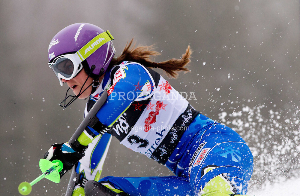 03.01.2012, Crveni Spust, Sljeme, CRO, FIS Weltcup Ski Alpin, Zagreb, Damen Slalom 2. Durchgang, im Bild MAZE Tina (SLO)uring Slalom race 2nd run of FIS Ski Alpine World Cup at 'Crveni Spust' course in Sljeme, Zagreb, Croatia on 2012/01/03. EXPA Pictures © 2012, PhotoCredit: EXPA/ Sportida/ Vid Ponikvar..***** ATTENTION - OUT OF SLO *****
