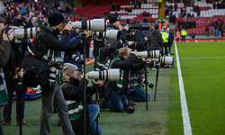LIVERPOOL, ENGLAND - Sunday, January 5, 2020: Photographers focus their lenses on Liverpool's new signing Japan international Takumi Minamino before the FA Cup 3rd Round match between Liverpool FC and Everton FC, the 235th Merseyside Derby, at Anfield. (Pic by David Rawcliffe/Propaganda)