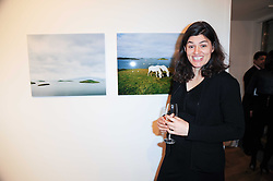 SCARLETT HOOFT GRAAFLAND at a private view of 'Life Vividly Lived Part 1' an exhibition of works inspired by Inishturkbeg, an island off the west coast of Ireland held at Flowers, 21 Cork Street, London on 9th February 2010.