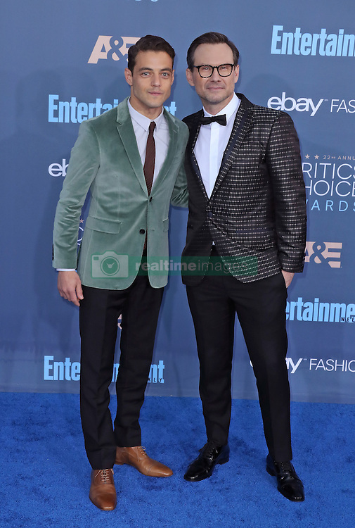 Rami Malek, Christian Slater, The 22nd Annual Critics Choice Awards at Barker Hangar (Santa Monica, CA.)