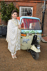 Thursday 26th March 2015, The Elephant Family charity and Quintessentially Foundation announced the launch of 'Travels To My Elephant' – a once-in-a-lifetime rickshaw race taking place in India in November 2015. The official launch of the venture took place at Clarence House at an exclusive reception hosted by TRH The Prince of Wales and The Duchess of Cornwall,  joint patrons of Elephant Family.<br /> Picture Shows:- Kanika Kapoor