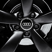 """"""" Audi Wheel"""" 2 mono<br /> <br /> A beautiful monochrome image of the awesome Audi wheel and logo!!<br /> <br /> Cars and their Details by Rachel Cohen"""