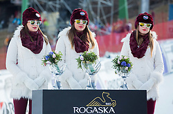 Trophies by Rogaska during the 2nd Run of the 7th Ladies' Giant slalom at 52nd Golden Fox - Maribor of Audi FIS Ski World Cup 2015/16, on January 30, 2016 in Pohorje, Maribor, Slovenia. Photo by Vid Ponikvar / Sportida
