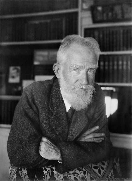 George Bernard Shaw, Irish Playwright and Author, 1930