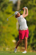 Perrine Delacour during the first round of the Symetra Tour Championship at LPGA International on Sept. 26, 2013 in Daytona Beach, Florida. <br /> <br /> <br /> ©2013 Scott A. Miller