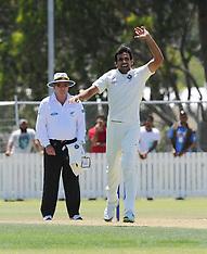 Whangarei-Cricket, India v New Zealand XI warmup match, February 02