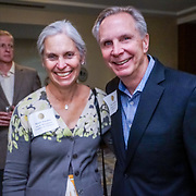 Seattle Wine Awards and Happy Hour Radio Celebrity Wine Challenge 2015. Tom Norwalk, Visit Seattle and Maud Daudon, Seattle Chamber. Photo by Alabastro Photography.