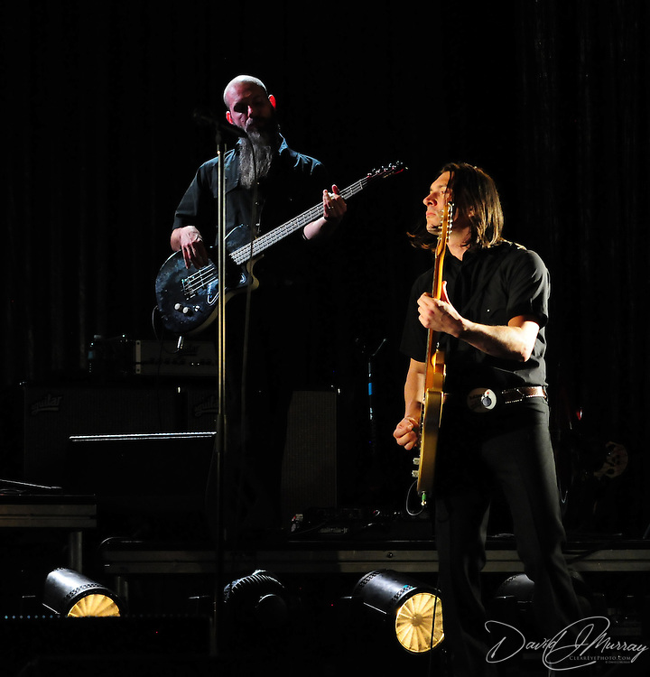 Siss Boom Bang bassist Lex Price and guitarist  Josh Grange, performing with k.d. lang at The Music Hall in Portsmouth, NH