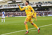 Millwall's Lee Gregory(9) scores a goal 1-3 and celebrates during the EFL Sky Bet League 1 match between Bristol Rovers and Millwall at the Memorial Stadium, Bristol, England on 30 April 2017. Photo by Shane Healey.