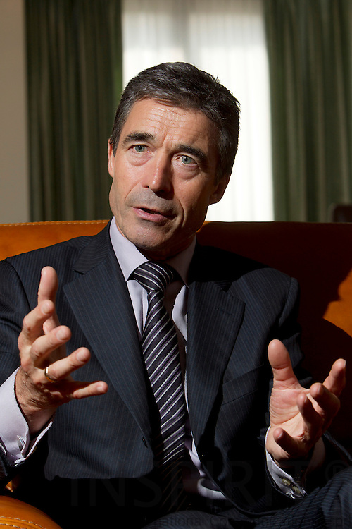 Udvalgsfotos til RITZAU historie der sendes ud den fredag den 6 august Kl. 8.00 -- BRUSSELS - BELGIUM - 07 JULY 2010 -- Interview med Anders Fogh Rasmussen, Nato's Generalsekretær. PHOTO: ERIK LUNTANG / INSPIRIT Photo