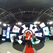 14.01.2018 Glen Durrant ENG beats  Mark McGeeney ENG at the BDO Lakeside  World Professional Darts Championships  Lakeside Country Club in Frimley, England UK. Durrant retained his title 7-6 360 degree panoramic image