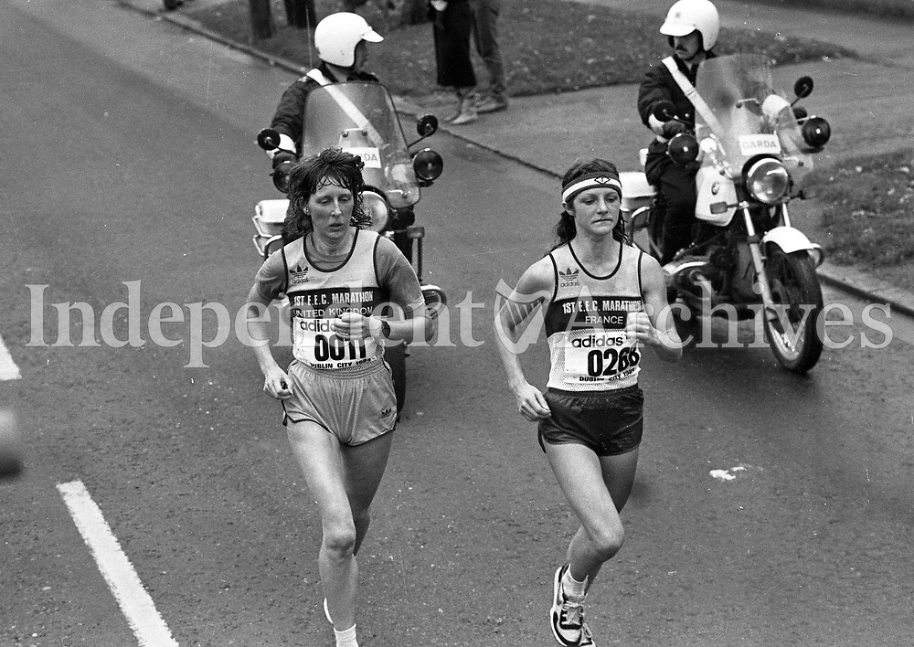 The Dublin City Marathon, From Fitzwilliam Square to Merrian Square, circa October 1984 (Part of the Independent Newspapers Ireland/NLI Collection).