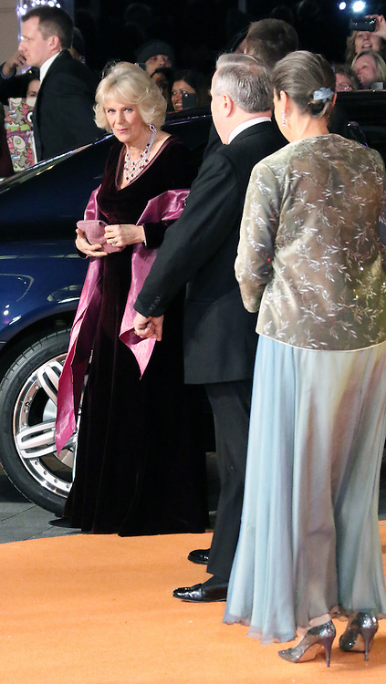 Camilla Duchess of Cornwall, The Second Best Exotic Marigold Hotel - Royal Performance and World Film Premiere, Leicester Square, London UK, 17 February 2015, Photo by Richard Goldschmidt