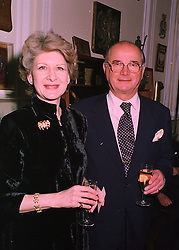 BARONESS HONORA VON FURSTENBURG and MR STANISLAS YASSUKOVICH deputy joint chairman of the International Stock Exchange, at a reception in London on 19th March 1998.MGF 7