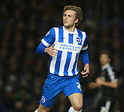 Brighton striker James Wilson during the Sky Bet Championship match between Brighton and Hove Albion and Brentford at the American Express Community Stadium, Brighton and Hove, England on 5 February 2016. Photo by Bennett Dean.
