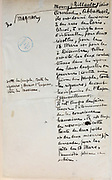 Handwritten notes for a speech supporting a bill offering amnesty to the communards (participants in the Paris Commune), 1876, page 30, by Victor Hugo, 1802-85, French writer, housed in the Archives du Senat, in the Senate in the Palais du Luxembourg, 6th arrondissement, Paris, France. Hugo was a senator for Seine 1876-85, and gave this speech on 22nd May 1876. Although this bill was not passed, a general amnesty was granted in 1880. Picture by Manuel Cohen
