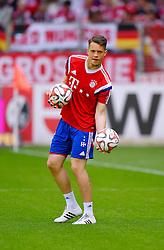 Football: Germany, 1. Bundesliga, SC Freiburg - FC Bayern Muenchen, Freiburg - 16.05.2015,<br /> Ivan Lucic (Bayern Muenchen).<br /> <br /> &copy; pixathlon<br /> <br /> +++ NED out !!! +++