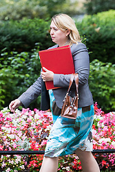 Downing Street, London, August 2nd 2016. Secretary of State for Culture, Media and Sport Karen Bradley arrives at Downing Street for the Economic and Industrial Strategy Committee meeting. The committee is comprised of eleven cabinet ministers and has been set up by Prime Minister Theresa May to ensure that Britain is in the best position to successfully leave the European Union.