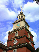 Image of Independence Hall at Independence National Historical Park in Philadelphia, Pennsylvania, American Northeast