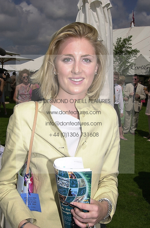 LADY EMILY COMPTON, a friend of Prince William, at a polo match in Berkshire on 30th July 2000.OGN 23