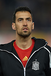 March 23, 2019 - Valencia, Valencia, Spain - Sergio Busquets of Spain during the 2020 UEFA European Championships group F qualifying match between Spain and Norway at Estadi de Mestalla on March 23, 2019 in Valencia, Spain. (Credit Image: © Jose Breton/NurPhoto via ZUMA Press)