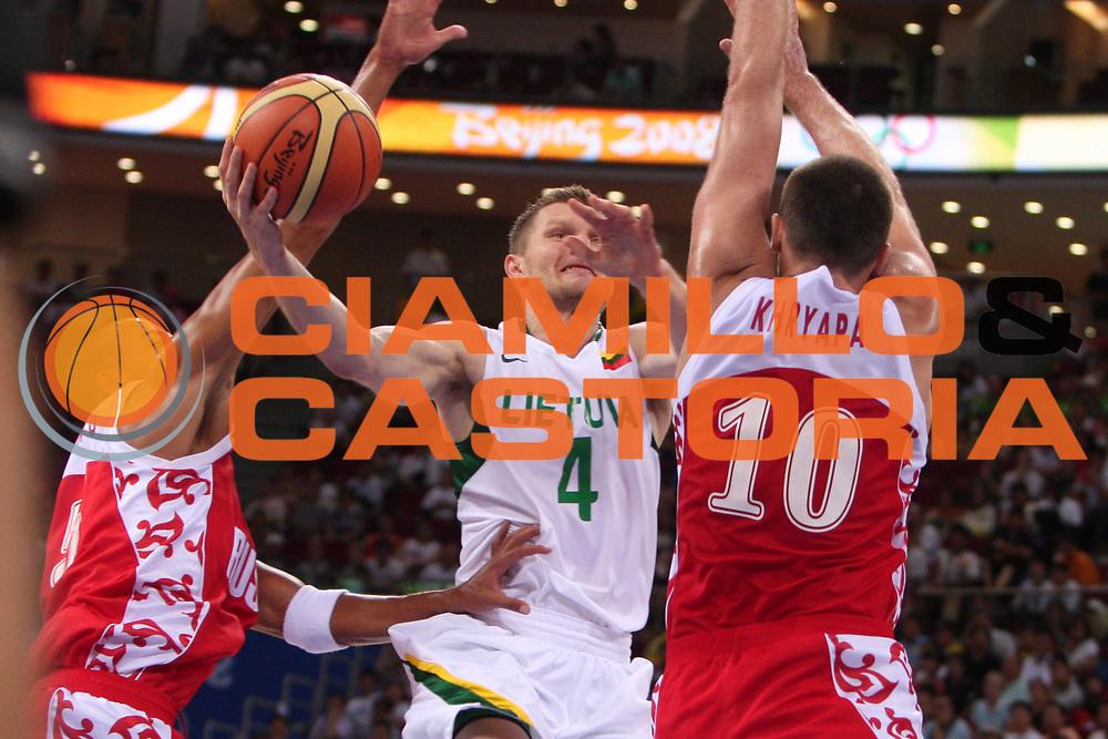 DESCRIZIONE : Beijing Pechino Olympic Games Olimpiadi 2008 Lithuania Russia <br /> GIOCATORE : Rimantas Kaukenas <br /> SQUADRA : Lithuania Lituania <br /> EVENTO : Olympic Games Olimpiadi 2008 <br /> GARA : Lituania Russia Lithuania Russia <br /> DATA : 14/08/2008 <br /> CATEGORIA : Tiro <br /> SPORT : Pallacanestro <br /> AUTORE : Agenzia Ciamillo-Castoria/E.Castoria <br /> Galleria : Beijing Pechino Olympic Games Olimpiadi 2008 <br /> Fotonotizia : Beijing Pechino Olympic Games Olimpiadi 2008 Lithuania Russia <br /> Predefinita :