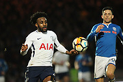 Danny Rose during the The FA Cup match between Rochdale and Tottenham Hotspur at Spotland, Rochdale, England on 18 February 2018. Picture by Daniel Youngs.