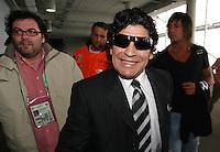 Eroeffnungsspiel WM 2006          Deutschland - Costa Rica Diego MARADONNA erreicht die Allianz Arena, um sich das Eroeffnungsspiel anzusehen.