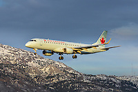 Air Canada Embraer 190 landing in Whitehorse, Yukon.