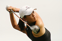 March 27, 2005; Rancho Mirage, CA, USA;  15 year old amateur Michelle Wie tees off at the 11th hole during the final round of the LPGA Kraft Nabisco golf tournament held at Mission Hills Country Club.  Wie shot a 1 under par 71 for the day and an even par 288 for the tournament and finished tied for 14th and won the award for low amateur.<br />Mandatory Credit: Photo by Darrell Miho <br />&copy; Copyright Darrell Miho