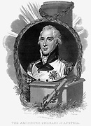 Charles, Archduke of Austria (1771-1847) Celebrated general. Defeated Napoleon at Aspern (May 1809). Copperplate engraving c1815.
