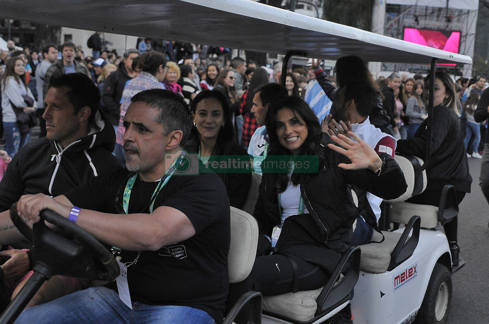 October 6, 2018 - Buenos Aires, Buenos Aires, Argentina - Tennis star Gabriela Sabatini at the Buenos Aires 2018 Youth Olympic Games Opening Ceremony. (Credit Image: © Patricio Murphy/ZUMA Wire)