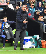 Reading manager Paul Clement shouting instructions from the technical area during the EFL Sky Bet Championship match between Swansea City and Reading at the Liberty Stadium, Swansea, Wales on 27 October 2018.