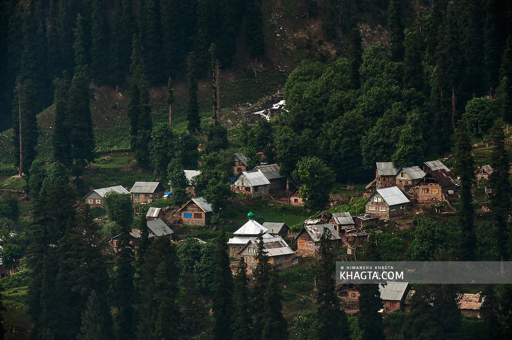A village near Baltal, Kashmir, India