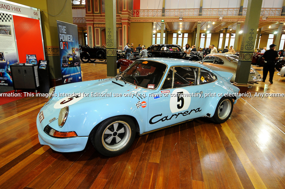 1973 Porsche 911 2.8 RSR.RACV Motorclassica.The Australian International Concours d'Elegance & Classic Motor Show.Royal Exhibition Building .Carlton, Melbourne, Victoria.October 22nd 2011.(C) Joel Strickland Photographics.Use information: This image is intended for Editorial use only (e.g. news or commentary, print or electronic). Any commercial or promotional use requires additional clearance.