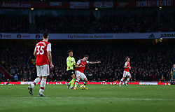 Granit Xhaka of Arsenal wins a tackle in midfield - Mandatory by-line: Arron Gent/JMP - 18/01/2020 - FOOTBALL - Emirates Stadium - London, England - Arsenal v Sheffield United - Premier League
