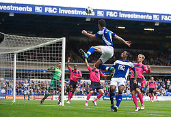 BIRMINGHAM, ENGLAND - Saturday, October 2, 2010: Birmingham City's Phil Jagielka in action against Everton during the Premiership match at St Andrews. (Photo by David Rawcliffe/Propaganda)