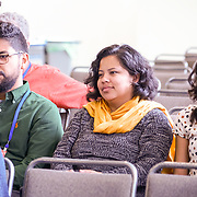 "Citizen University National Conference 2017 ""Reckoning and Repair in America"".  Conversations with Usra Ghazi (Interfaith Youth Corps), Ruben Navarrette Jr, Carrie Mae Weems (artist). Photo by Alabastro Photography."