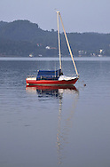 Evening on the of Lake Worthersee