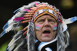 December 16, 2017 - Dublin, Ireland - Exeter Chiefs' supporter ahead of the European Rugby Champions Cup rugby match, Leinster vs Exeter Chiefs at the Aviva Stadium, Dublin. .On Saturday, 16 December 2017, in Dublin, Ireland. (Credit Image: © Artur Widak/NurPhoto via ZUMA Press)