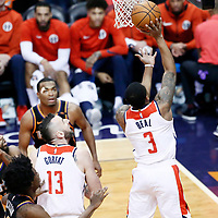 07 December 2017: Washington Wizards guard Bradley Beal (3) goes for the layup during the Washington Wizards 109-99 victory over the Phoenix Suns, at the Talking Stick Resort Arena, Phoenix, Arizona, USA.